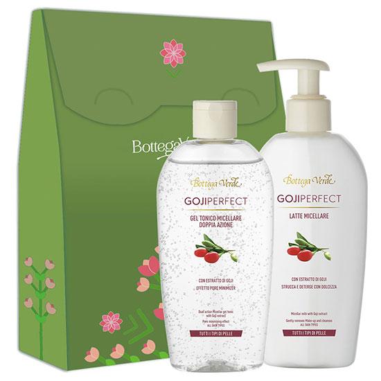 Set cadou femei curatare ten cu extract de goji - Goji Perfect, 200 ML + 200 ML