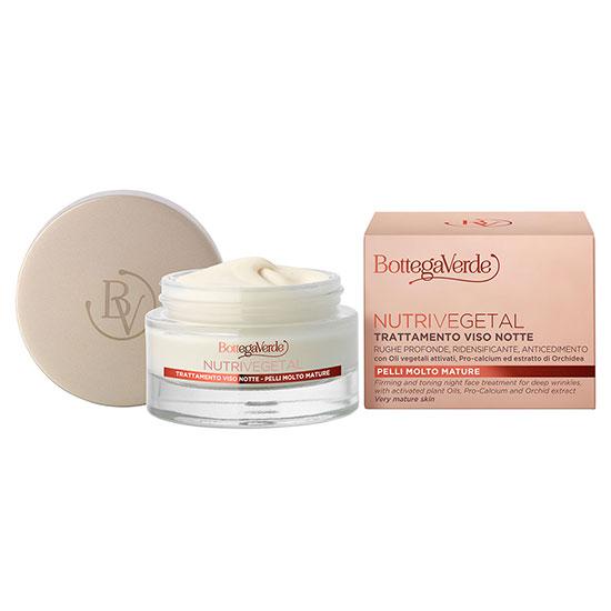 Tratament, de noapte, pentru riduri adanci, hidratanta si nutritiva, pentru ten matur, cu Pro-calciu si orhidee - Nutrivegetal, 50 ML