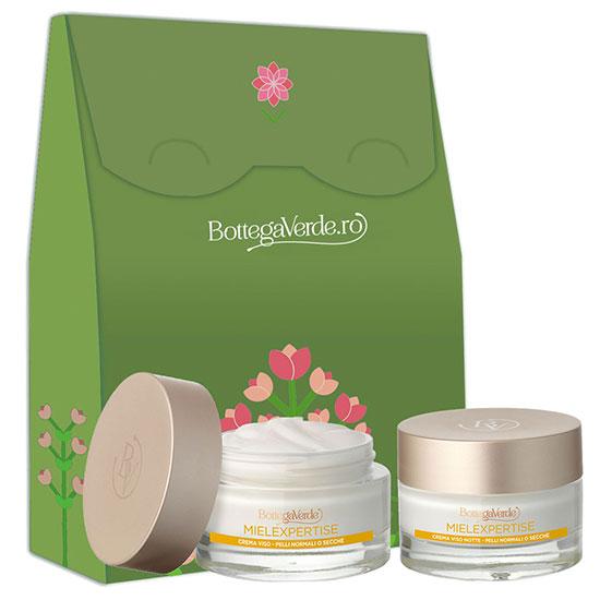 Set cadou femei hidratare ten cu extract de miere si Pluridefence  - Mielexpertise, 50 ML + 50 ML