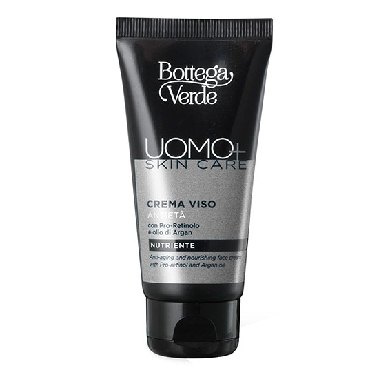 Crema de fata, anti-imbatranire, cu pro-retinol si ulei de argan - Uomo+, 50 ML