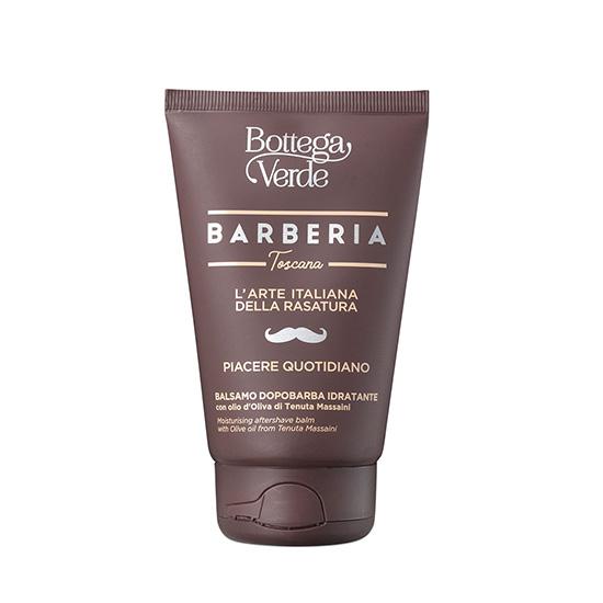 Balsam dupa barbierit, intens hidratant, cu ulei de masline de la Palatul Massaini - Barberia Toscana, 75 ML