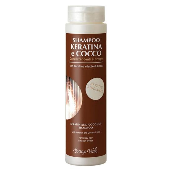 Sampon cu keratina si lapte de cocos pentru par predispus la incretire - Keratina e Cocco, 200 ML