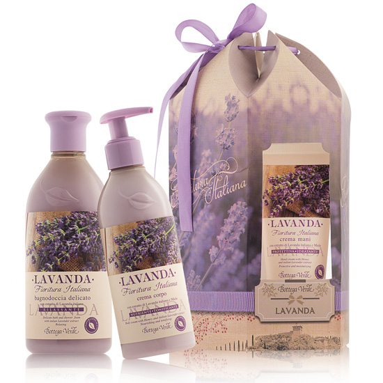 Set cadou - Lavanda - Gel de dus, crema de corp si crema de maini cu lavanda - Lavanda  (75 ML, 400 ML, 250 ML)