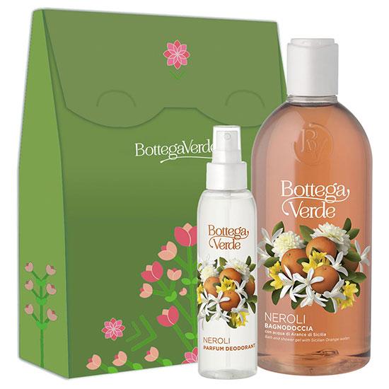 Set gel de dus si parfum deodorant cu aroma de flori de portocal, 400 ML + 125 ML