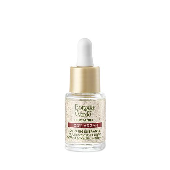 Ulei pentru fata si corp, cu efect de regenerare si hidratare, 100% ulei de argan - I Botanici, 10 ML