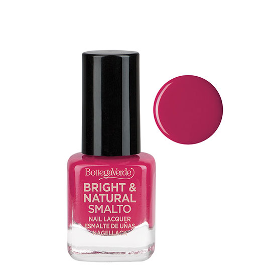 Lac de unghii cu 80% ingrediente naturale, fuchsia - Bright and Natural, 1.5 ML