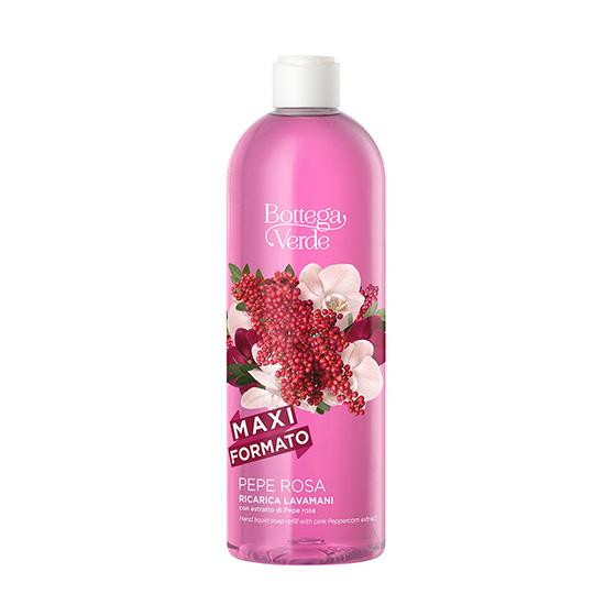 Sapun lichid delicat cu extract de piper roz - Pepe Rosa, 750 ML