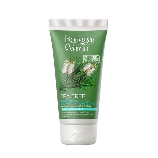 Crema de maini hidratanta, cu ulei de arbore de ceai - Tea Tree, 75 ML