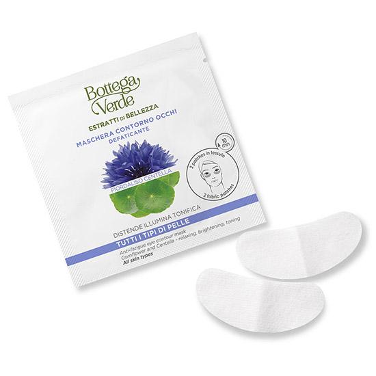 Masca pentru zona din jurul ochilor cu extract de Centella si apa din flori de albastrele - Estratti di Bellezza, 2 BUC
