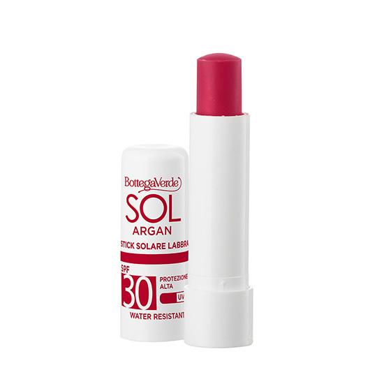 Balsam de buze, rezistent la apa, cu vitamina E si ulei de argan, SPF30, rosu - SOL Argan, 5 ML