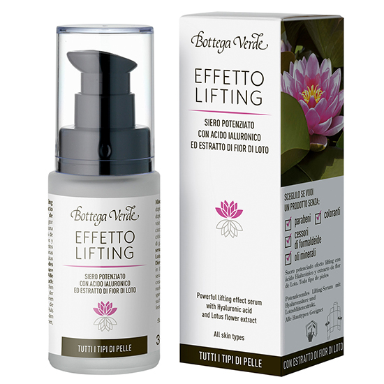 Ser lifting cu acid hialuronic si extract din flori de lotus - NEW formula - Effetto Lifting, 30 ML