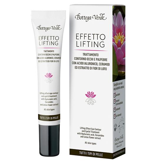Tratament lifting pentru zona din jurul ochilor si pentru pleoape cu acid hialuronic si extract din flori de lotus - Effetto Lifting, 15 ML