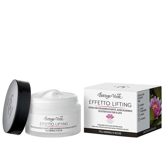 Crema de fata cu efect lifting cu unt de shea, acid hialuronic si extract din flori de lotus - Effetto Lifting, 50 ML