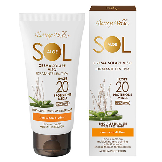 Crema de fata hidratanta si calmanta cu extract de suc de Aloe, 50 ML