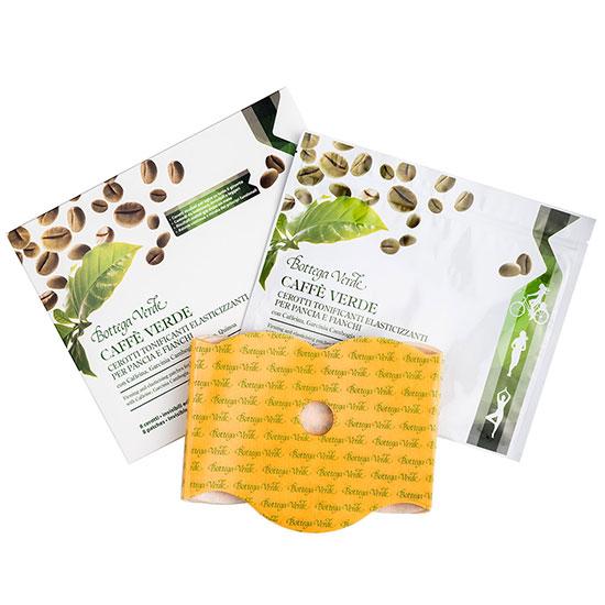 Plasturi pentru remodelarea coaspelor si zonei abdomenului, cu extract de ardei iute - Caffè Verde, 8BUC