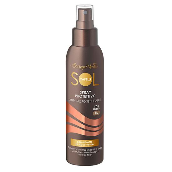 Spray protector pentru par, cu extract de nuci verzi si filtru solar  - Sol Capelli, 125 ML