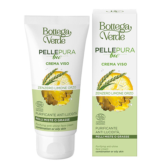 Crema seboechilibranta cu extract de ghimbir - Pelle Pura Bio, 50 ML