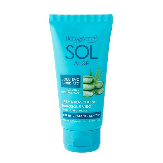 Masca-crema pentru fata, intens hidratanta, cu 20% suc de Aloe Vera - Sol Aloe, 50 ML