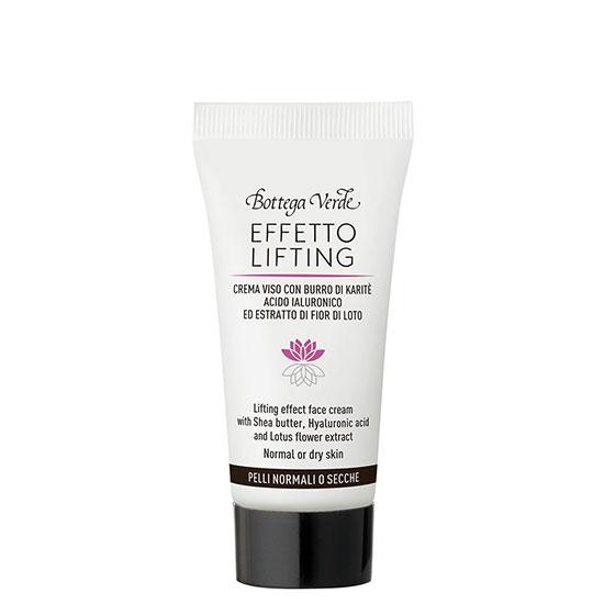 Crema de fata mini, cu efect lifting cu extract de acid hialuronic si flori de lotus - Effetto Lifting, 15 ML