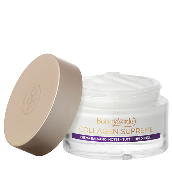 Crema-balsam, de noapte, cu efect antirid, pentru toate tipurile de ten, cu 97% ingrediente naturale - Collagen Supreme, 50 ML