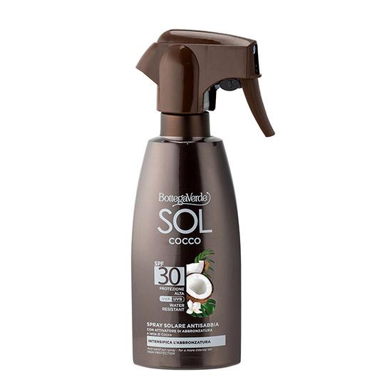 Spray de corp, protejeaza si ajuta la intensificarea bronzului, cu lapte de nuca de cocos, SPF 30