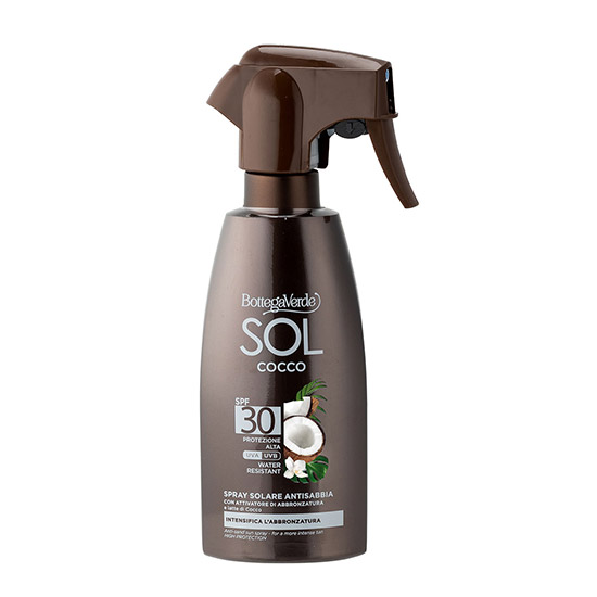 Spray protectie solara, rezistent la apa, cu lapte de nuca de cocos, SPF 30 - SOL Cocco, 250 ML