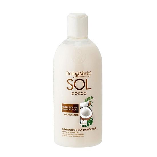 Gel de dus dupa expunerea la soare cu lapte de nuca de cocos - SOL Cocco, 400 ML