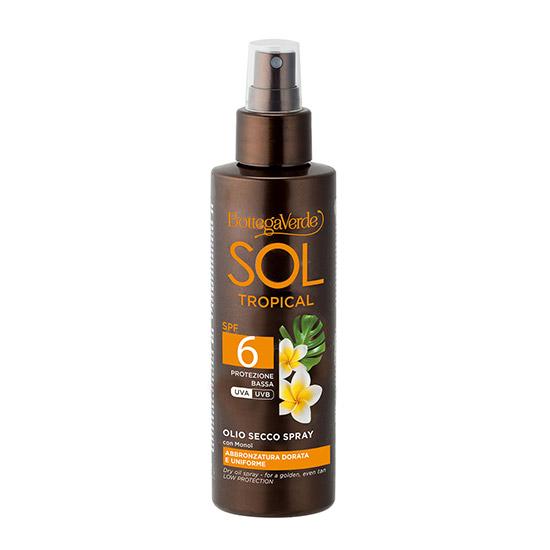 Ulei pentru corp, pentru un bronz intens cu ulei de monoï, SPF 6 - Sol Tropical, 150 ML