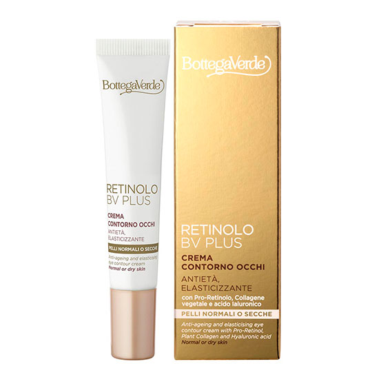Crema pentru zona din jurul ochilor cu Pro-Retinol, colagen vegetal si acid hialuronic - Retinolo Bv Plus, 15 ML