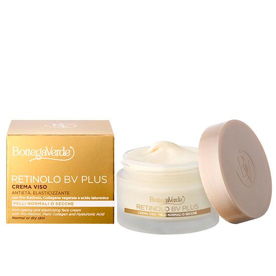 Crema anti-imbatranire, cu pro-retinol, colagen vegetal, acid hialuronic, extract de ginseng si vitaminele E si F. - Retinolo Bv Plus, 50 ML
