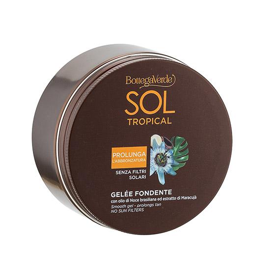 Gel pentru intensificarea bronzului cu ulei de nuci braziliene si fructul pasiunii - Sol Tropical, 200 ML