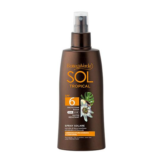Spray pentru corp, pentru un bronz intens cu ulei de nuci braziliene si extract de fructul pasiunii, SPF 6