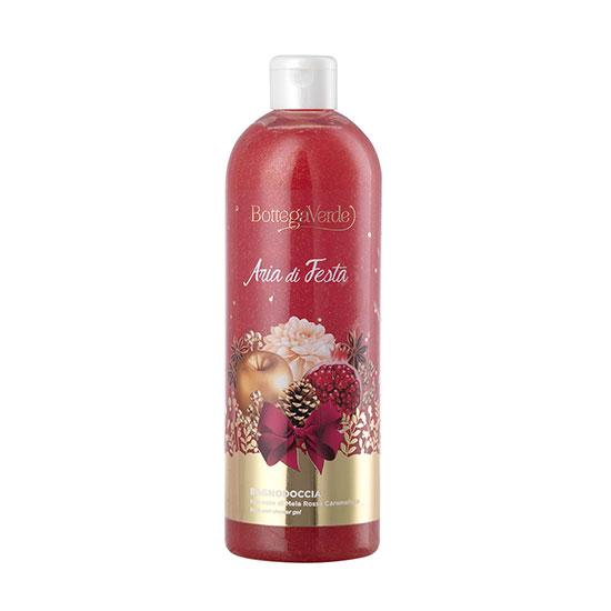 Gel de dus, delicat, cu extract de mere rosii caramelizate, editie limitata - Aria di Festa, 750 ML