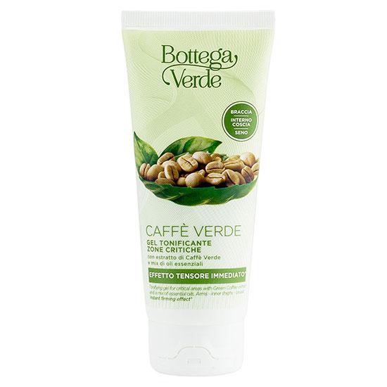 Gel de tonifiere pentru zonele critice cu extract de cafea verde si mix de uleiuri esentiale - Caffè Verde, 100 ML