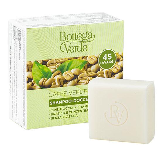Gel de dus si sampon solid cu extract de cafea verde si mix de uleiuri esentiale - Caffè Verde, 60 G