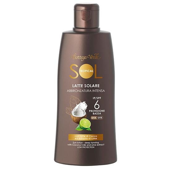 Lapte bronzant, cu extract de lime si lapte de cocos - Sol Tropical, 200 ML