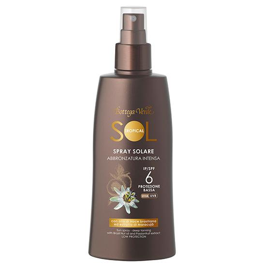 Spray pentru plaja pentru un bronz aprins, cu ulei de nuci braziliene si extract de maracuja - waterproof - Sol Tropical, 200 ML