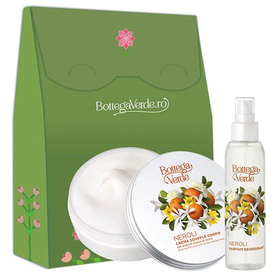 Set cadou femei crema de corp si parfum cu extract de flori de portocal - Neroli, 150 ML + 125 ML