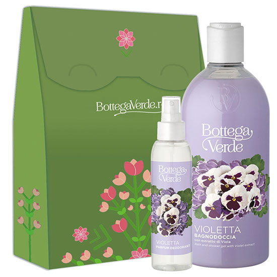 Set cadou femei parfum deodorant si gel de dus cu aroma de violete - Violetta, 400 ML + 125 ML