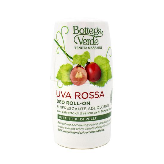 Deodorant roll-on, hidratant, cu extract de struguri rosii de la Palazzo Massaini - Uva Rossa, 50 ML