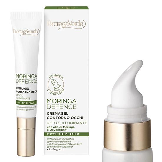 Crema pentru zona din jurul ochilor, cu efect detoxifiant si iluminant cu ulei de Moringa si Oxygeskin - Moringa Defence, 10 ML
