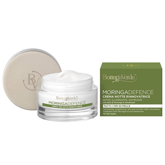 Crema de noapte detoxifianta si iluminata cu ulei de Moringa si Oxygeskin - Moringa Defence, 50 ML