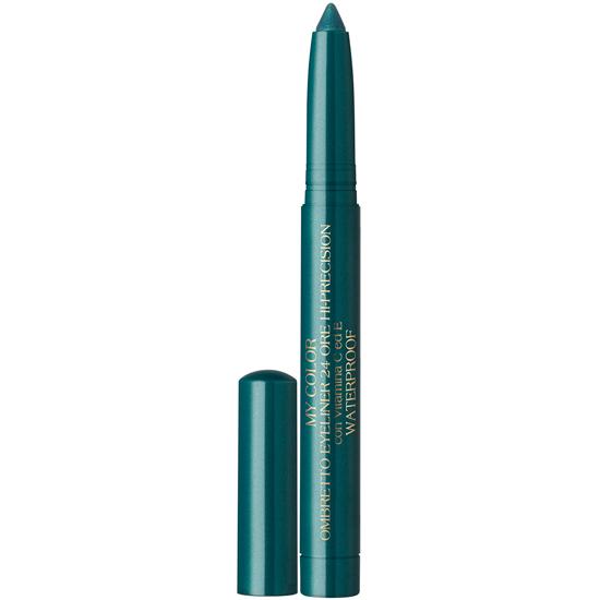 My color - Fard de pleoape stick 24 ore, cu vitaminele C si E - rezistent la apa   - verde albastru