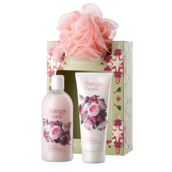 Set cadou femei, ingrijire corp cu aroma de trandafiri - Rosa, 200 ML, 400 ML