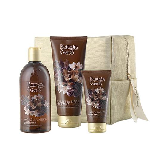 Set cadou femei, intens hidratant, cu extract de vanilie neagra - Vaniglia Nera, 200 ML, 400 ML, 75 ML