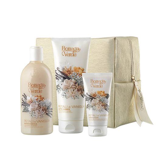 Set cadou femei, pentru ingrijirea corpului, cu aroma de petale de vanilie