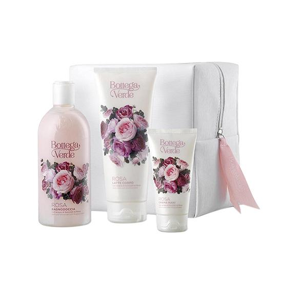 Set cadou femei, intens hidratant, cu extract de trandafiri - Rosa, 200 ML, 400 ML, 75 ML