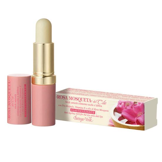 Stick anti-imbatranire pentru zona din jurul ochilor si buzelor cu pro-retinol, vitamina E si ulei de macese - Rosa Mosqueta, 5 ML