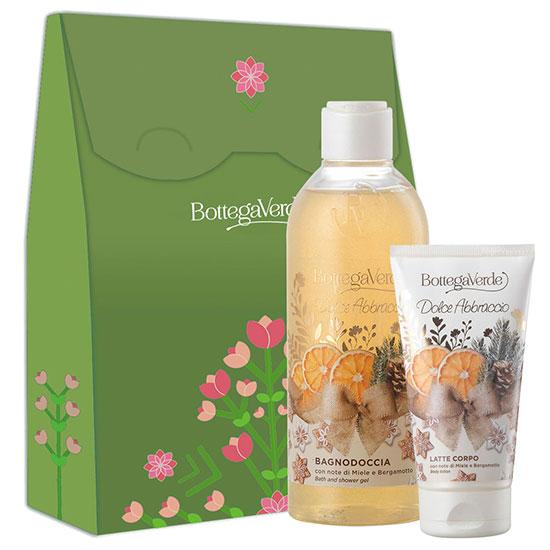 Set cadou femei cu aroma de miere si bergamota, 150 ML + 250 ML