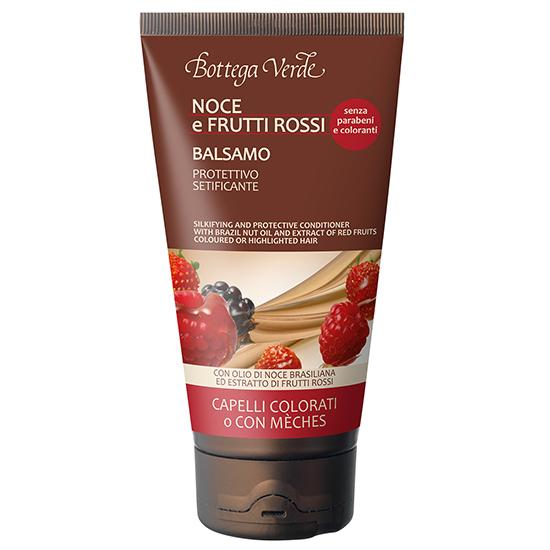 Balsam - crema cu ulei de nuci braziliene si fructe rosii pentru par vopsit - Olio di Nocce e Frutti Rossi, 150 ML